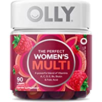 OLLY Perfect Women's Gummy Multivitamins with Vitamin C, A, D, E, Bs, Chewable Supplement, 45 Day Supply, 90 count