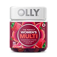 OLLY Women's Multivitamin Gummy, Vitamins A, D, C, E, Biotin, Folic Acid, Chewable Supplement, Berry Flavor, 45 Day Supply - 90 Count (Packaging May Vary)