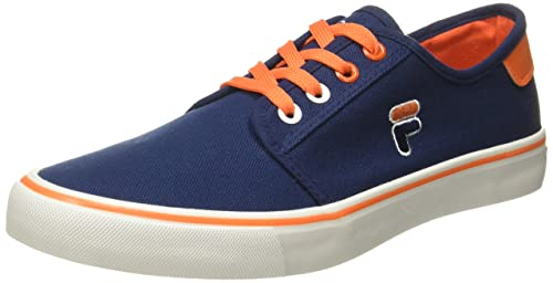 d9a6920377d1 Fila Men s Balder Navy and Orange Sneakers - 7 UK India (41 EU)  Buy ...