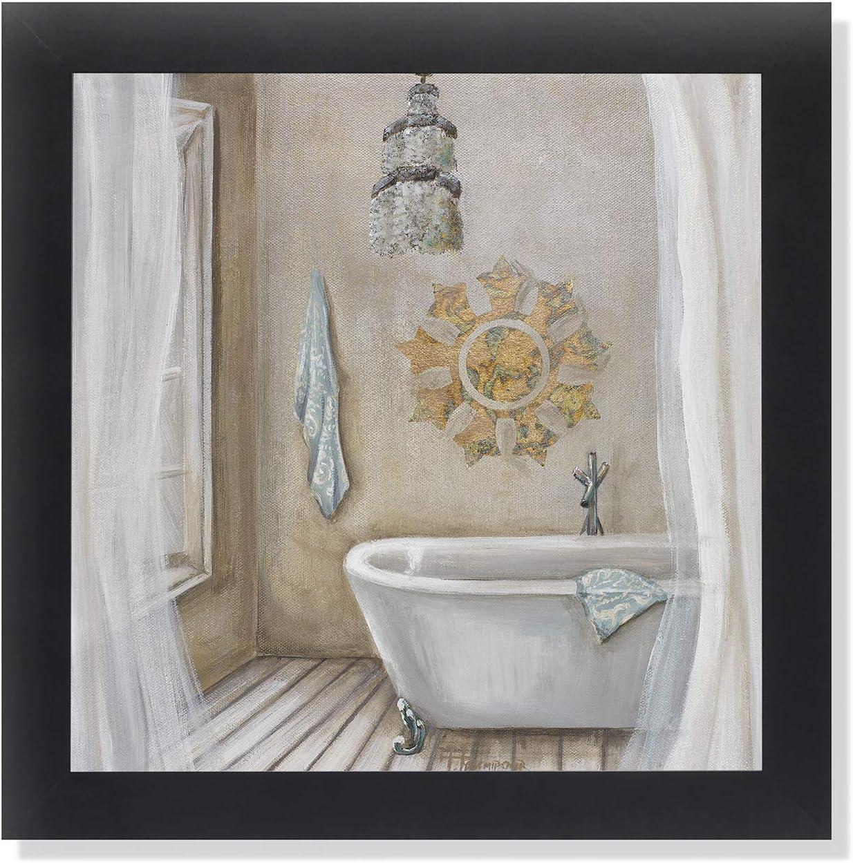 Amazon Com Crystal Bath Ii Bathroom Black Framed Art Print Poster 12x12 Posters Prints