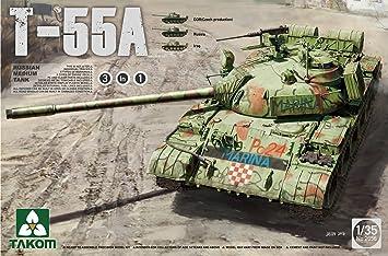 TAKOM 2056 – Maqueta de Russian Medium Tank T de 55 A: Amazon.es: Juguetes y juegos