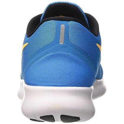 27bbc0671ebbd ... NIKE Free RN Heritage Cyan Black Blue Spark Laser Orange Mens Running  Shoes ...