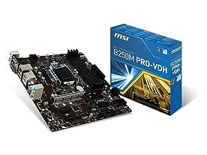MSI Pro Series Intel B250 LGA 1151 DDR4 HDMI USB 3.1 Micro-ATX Motherboard (B250M PRO-VDH)