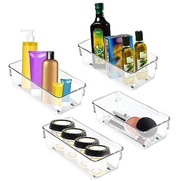 Kühlschrank Storage Organizer   4 Set Kühlschrank Aufbewahrungsbox  Schubladen Pantry Container Stackable Kühlschrank Container   Perfekt
