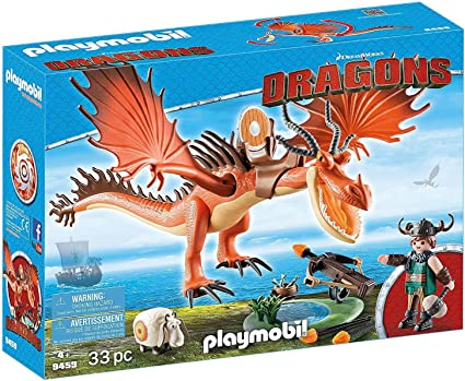 PLAYMOBIL How to Train Your Dragon Snotlout with Hookfang