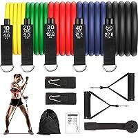 Bandas Elasticas Musculacion 150lbs Gomas Elasticas Fitness 100% Látex Natura con 5 Diferentes Niveles Antideslizante Y…
