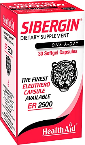 HealthAid Sibergin, Siberian Eleuthero, 30ct Once Daily Soft Gel Capsules