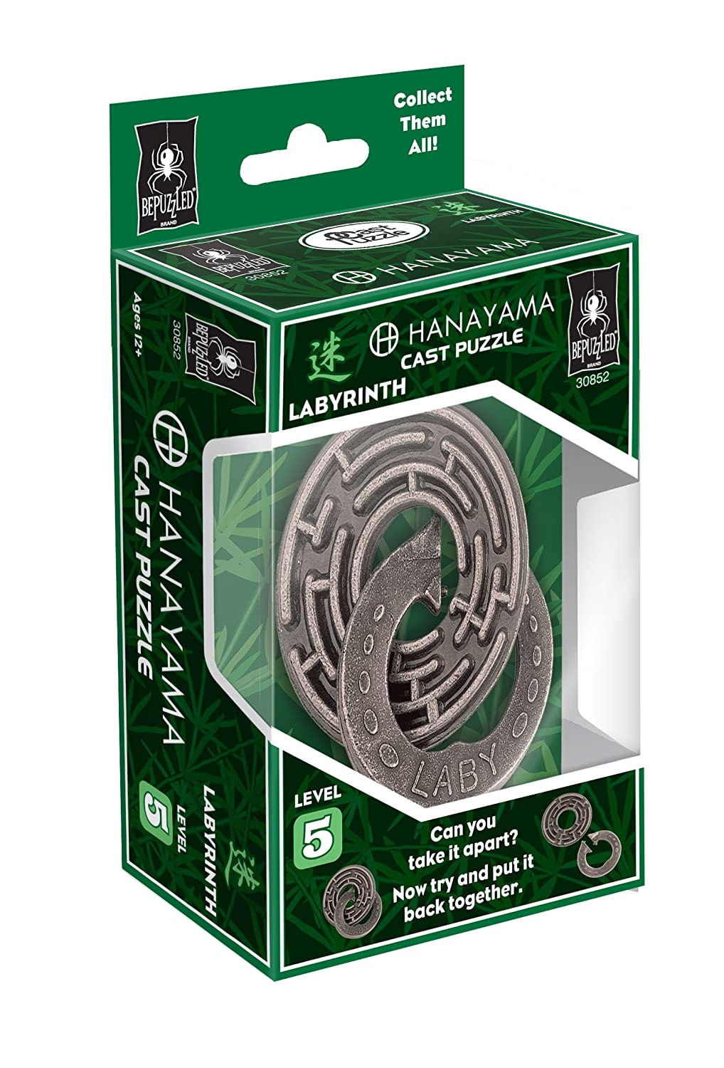 B0038BCMYU Bepuzzled LABYRINTH Hanayama Cast Metal Brain Teaser Puzzle (Level 5) Puzzles For Kids and Adults Ages 12 and Up 81zHI6FpyjL