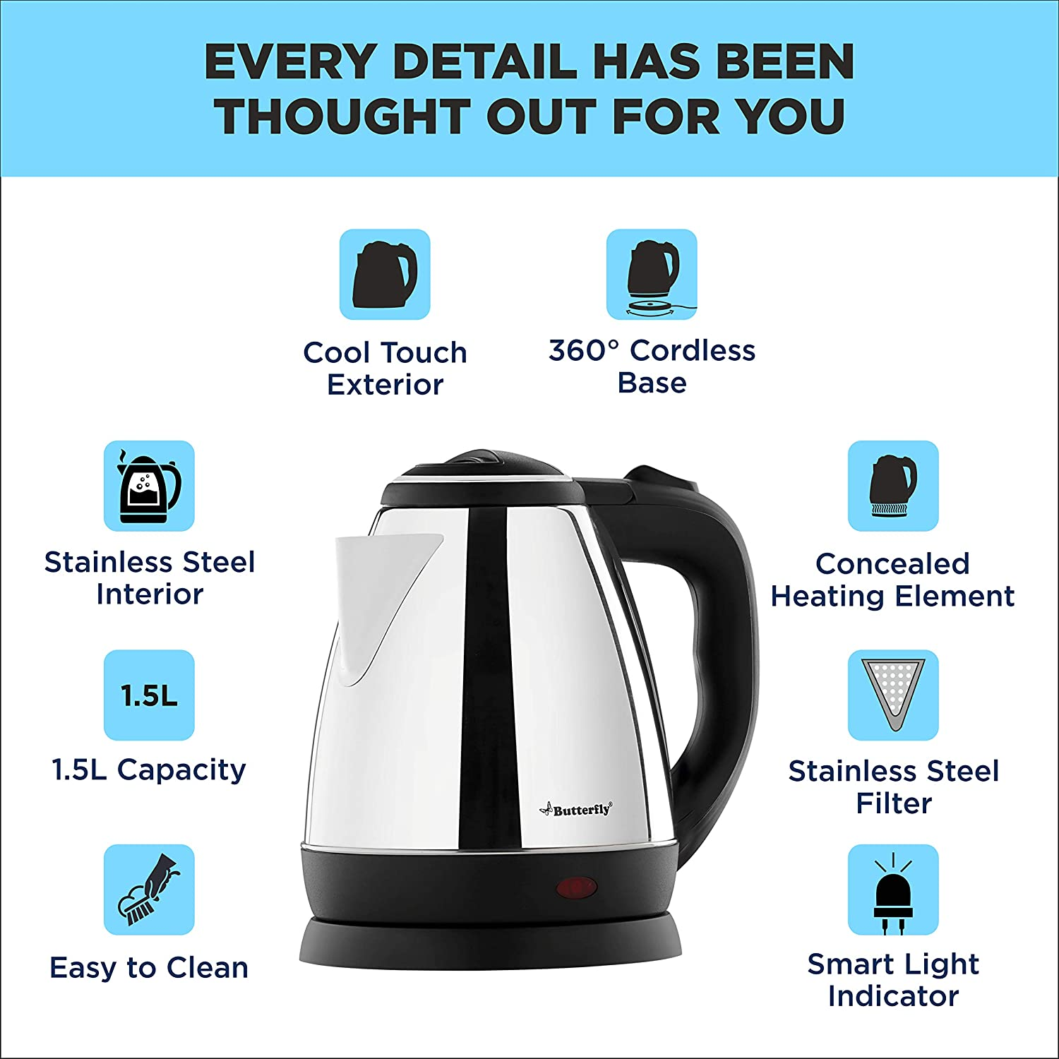 Butterfly - Best electric kettle in India