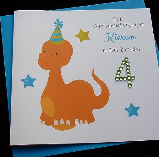 Handmade Personalised Dinosaur Childrens Birthday Card 1st 2nd – Personalised Birthday Card Uk