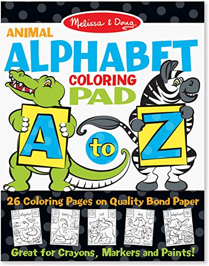 Amazon.com: Melissa & Doug 26-Page Animal Alphabet Coloring 11 X 14 Pad,  Multicolor: Toy: Toys & Games