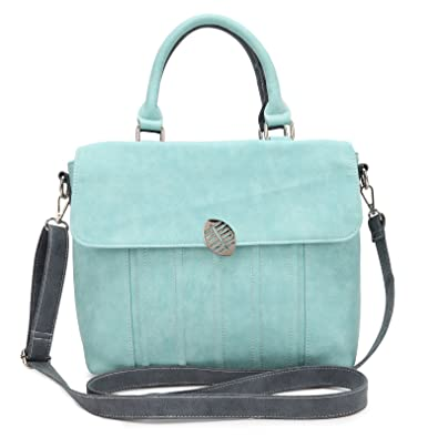 Zauberhafte zweifarbige Handtasche: Folly - aqua/blau von Hi-Di-Hi Hi-di-hi jdKyJC4hwE