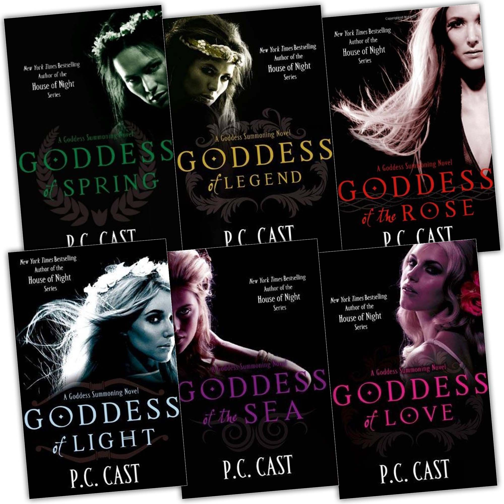 P C Cast Goddess Summoning Series 6 Books Collection Pack Set Rrp: £4794  (goddess Of Spring, Goddess Of Light, Goddess Of Love, Goddess Of The Sea,