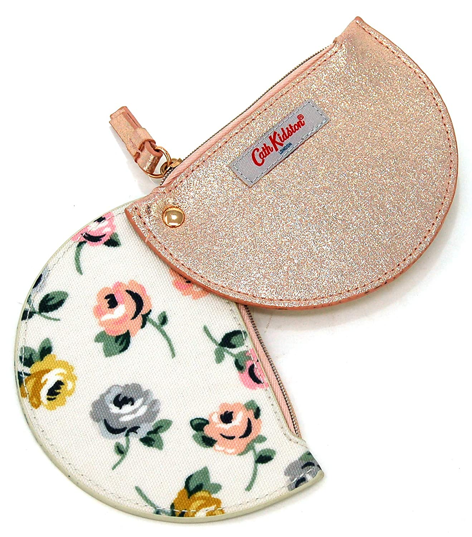 Cath Kidston - Monedero Doble de Media Luna, diseño Floral y ...