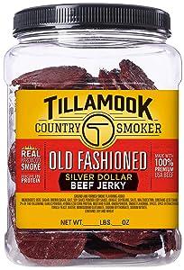 Tillamook Country Smoker Tillamook Real Hardwood Smoked Old Fashioned Silver Dollar Beef Jerky 13oz Resealable Jar