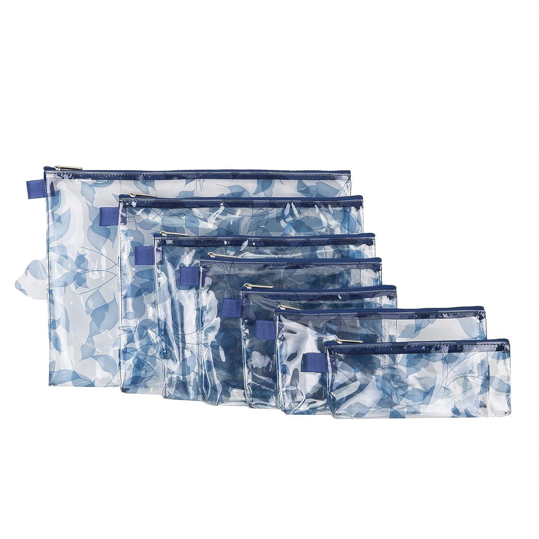 Blue Leaves Travelon Set of 7 Packing Envelopes