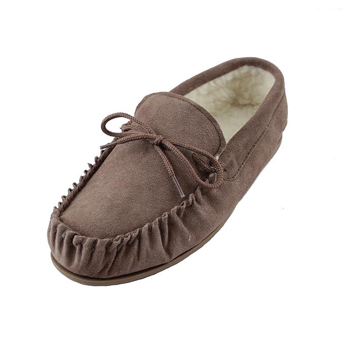 Sheepskin World - Zapatillas de estar por casa para mujer Marrón marrón sBAjLG8H