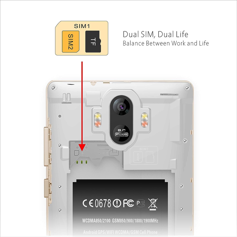 Teléfono Móvil Libre, 6.0 Pulgadas VIVK M9 3G Smartphone Android 6.0 Dual SIM Móviles Baratos, Memoria Interna de 16GB Quad Core y Cámara de 8.0MP, ...