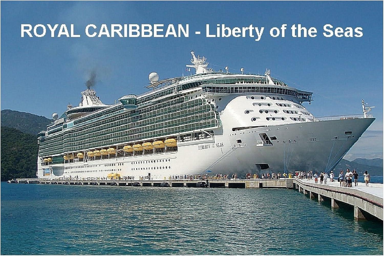 CRUISE SHIP FRIDGE MAGNET - ROYAL CARIBBEAN - LIBERTY OF THE SEAS 3½ x 2½ inches Jumbo