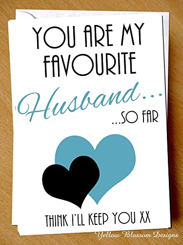 funny wedding anniversary card you are my favourite husband so far