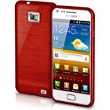 Samsung Galaxy S2 Hülle Silikon Dunkel-Rot [OneFlow Brushed Back-Cover] TPU Schutzhülle Ultra-Slim Handyhülle für Samsung Galaxy S2 / S2 Plus SII Case Dünn Silikonhülle Rückseite Tasche