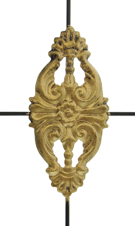 adorno dorado, 48 cm color negro Farol de metal weidenkoerbchen FF Ornament