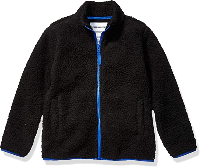 Essentials Boys Full-Zip Polar Fleece Jacket