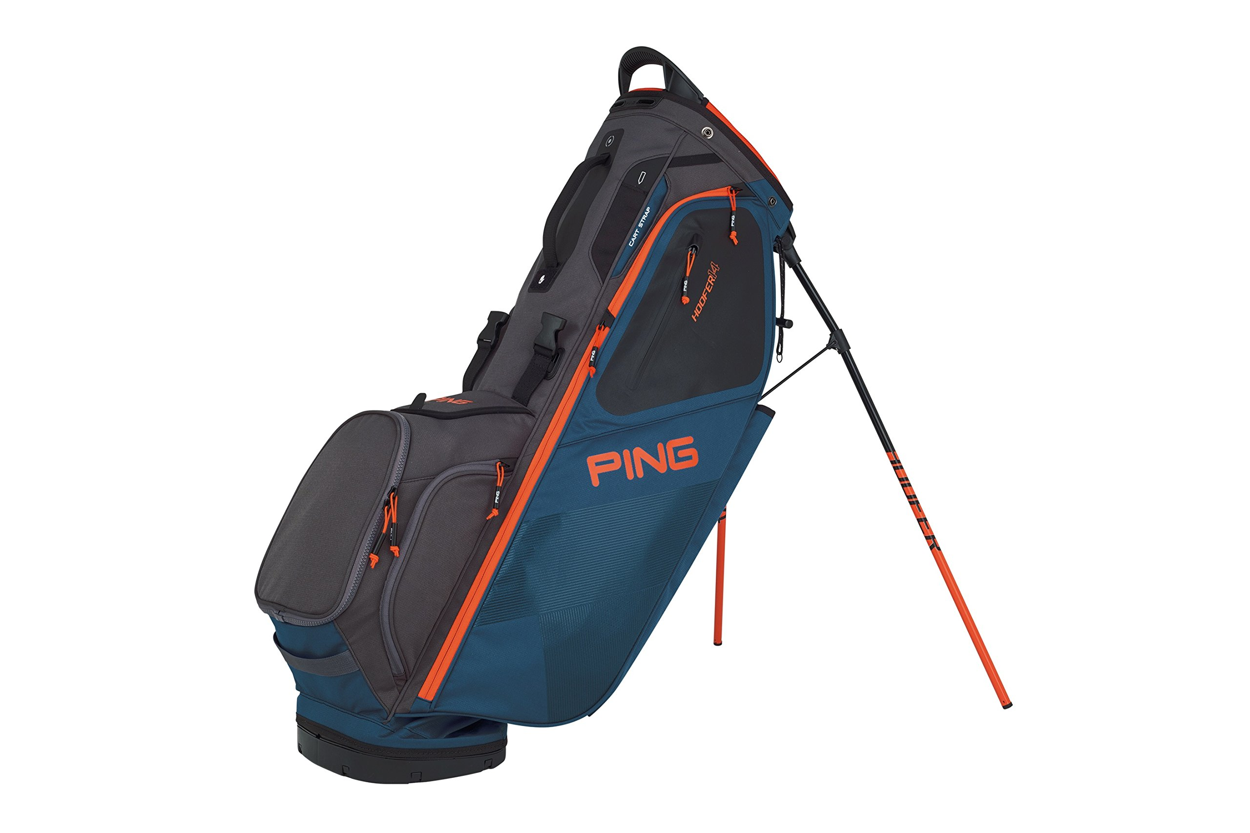 PING 2018 HOOFER 14 181 STAND GOLF BAG 07 DARK TEAL/GRAPHITE/ORANGE