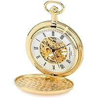 Charles-Hubert, Paris 3909-g Classic Collection chapado en oro Hunter funda mecánico reloj de bolsillo