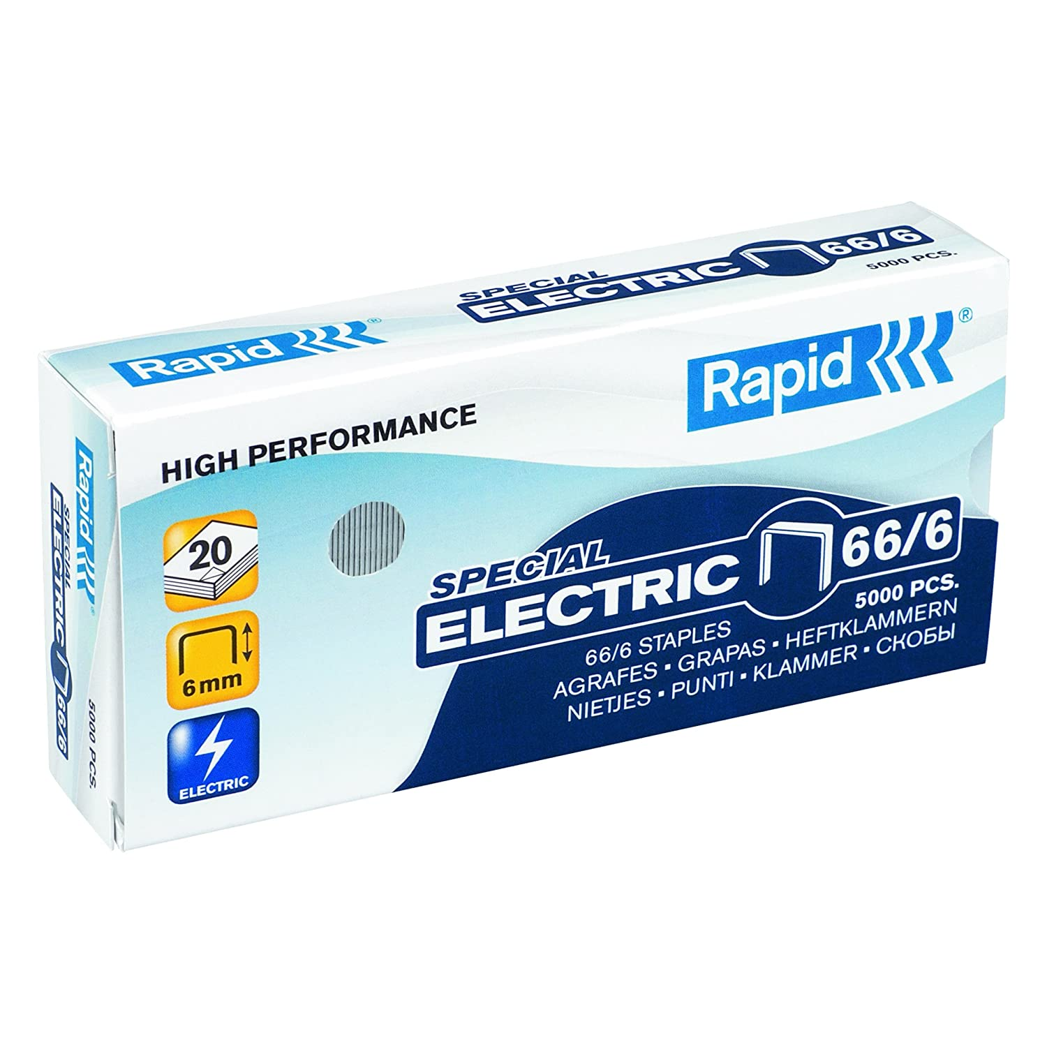 Rapid 24867800 66/6 Strong Staples, Robust Galvanised Wire, 6 mm Leg ...
