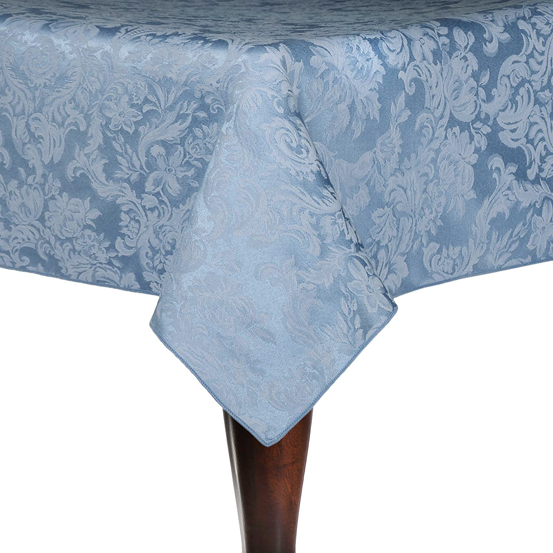 究極Textile Miranda 90 x 90-inch Squareダマスクテーブルクロス 3 Pack ブルー 3PK4-90X90-153 B0796G1X2R 3 Pack|スレートブルー スレートブルー 3 Pack