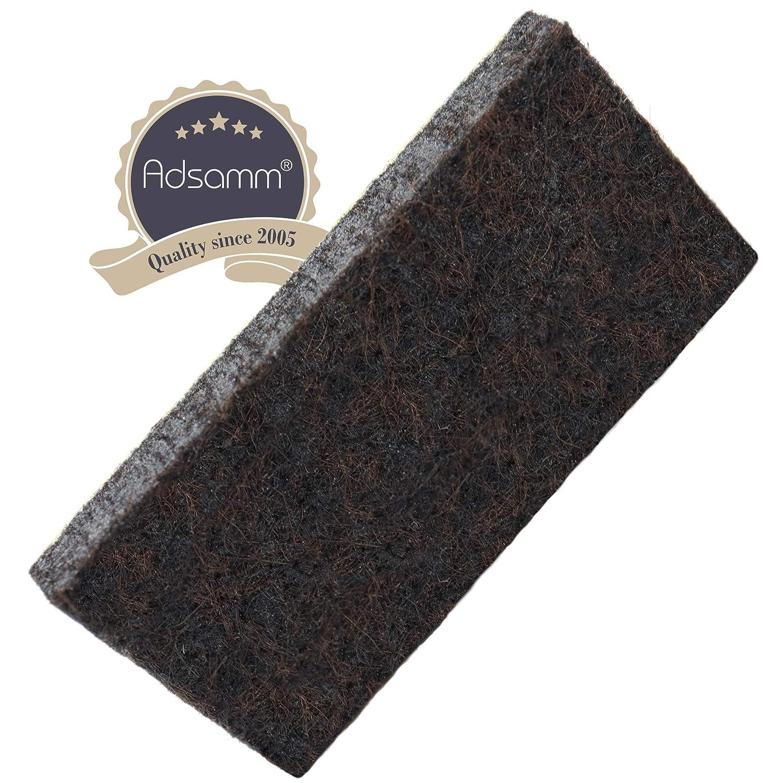 16 x Filzgleiter /Ø 28 mm rund 5.5 mm starke selbstklebende M/öbelgleiter in Premium-Qualit/ät von Adsamm/® Adsamm/® Braun
