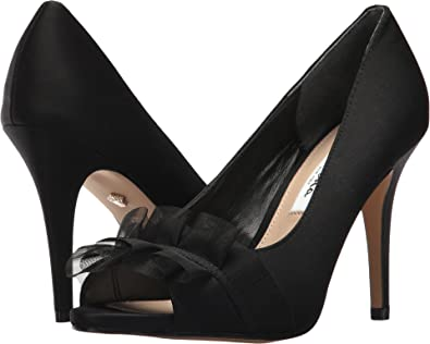 Nina Women's Raizel Black Luster Satin 5 ...