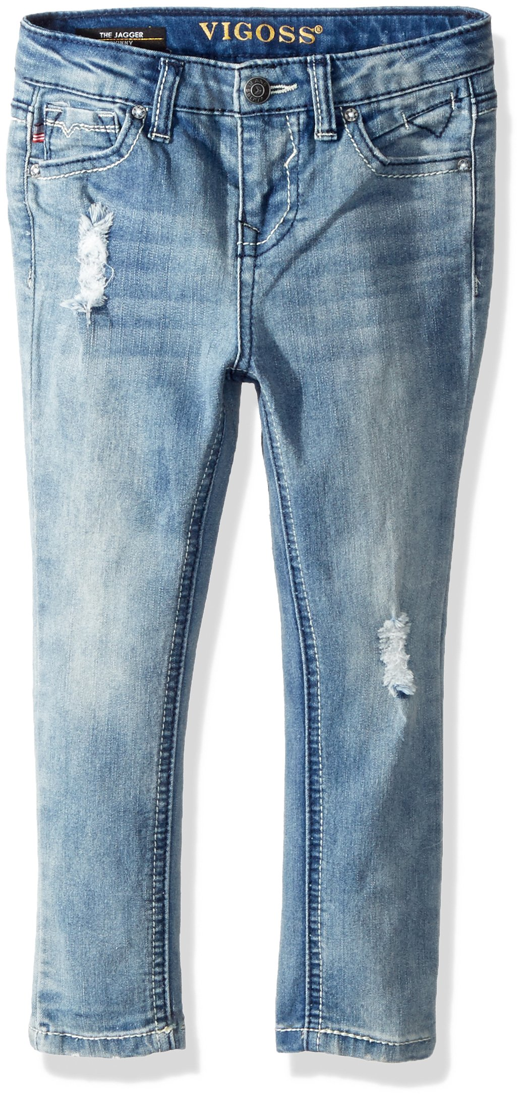 VIGOSS Girls' Big Back Pocket Jean, Brite Blue, 12