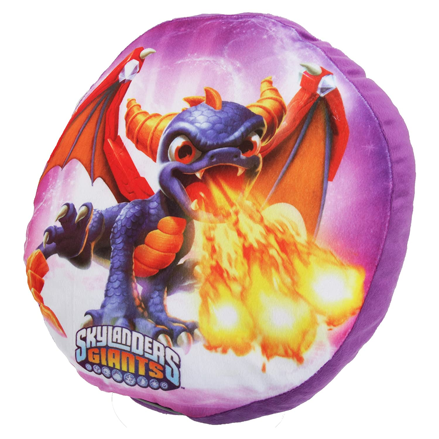 Skylander Giants Childrens/Kids Circle Spyro Cushion (One Size) (Purple) UTCU218_1