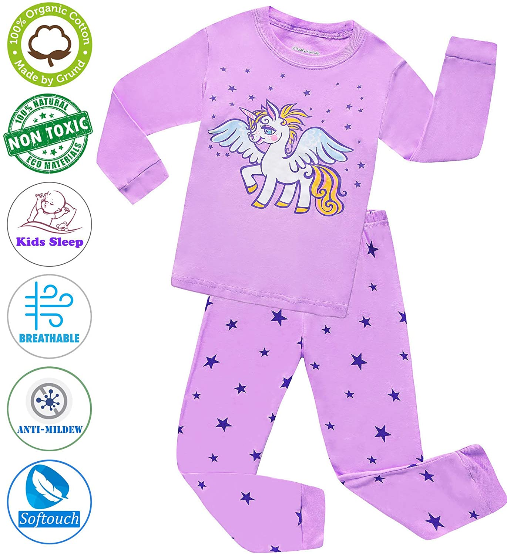 f964c6bc1 Amazon.com  Girls Pajamas Clothes Sleepwear 100% Cotton PJS for ...