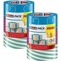 tesa - Kleurrijk verpakkingstape / 3 rollen van 25 m x 50 mm (2 verpakkingen)