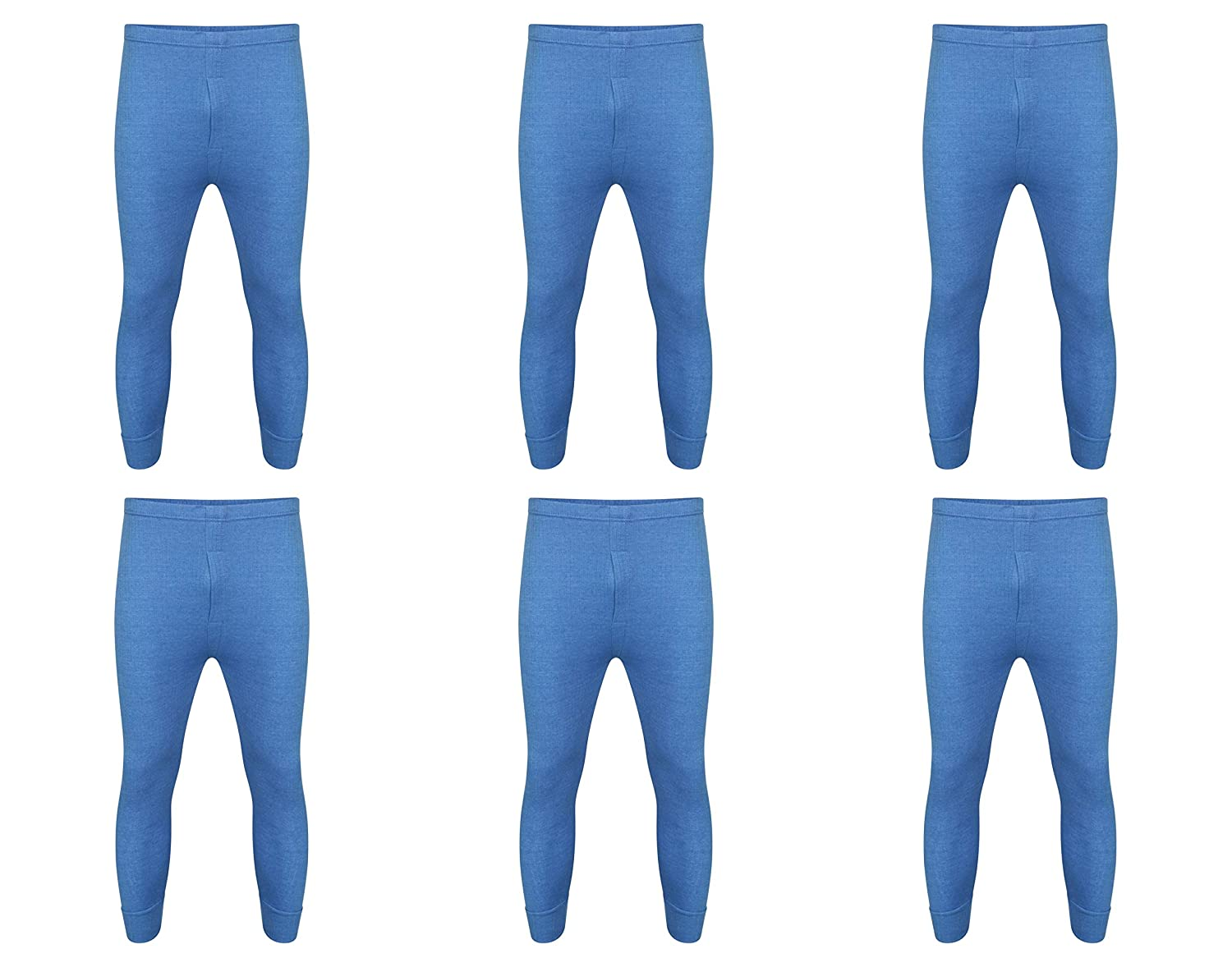 6 x Mens Thermal Long Johns Top Bottom Underwear Trousers T Shirt Set S M L XL