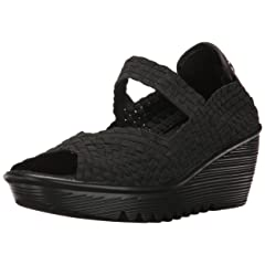 e0bb2f9aceb3 HKR Women Closed Peep Toe Woven Platform Wedges Mary Jane Sandals ...