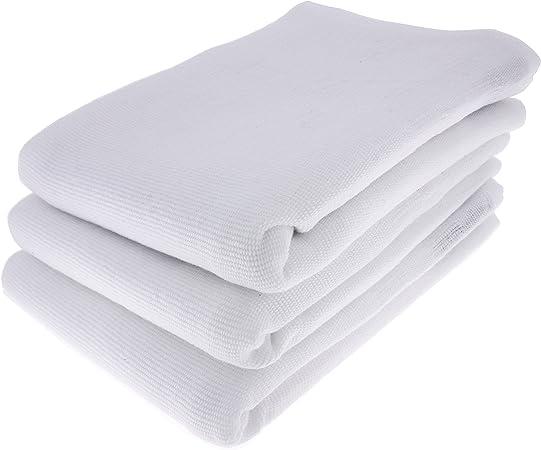 3 x paño de cocina Trapo/Paño de 100% algodón en blanco: Amazon.es ...