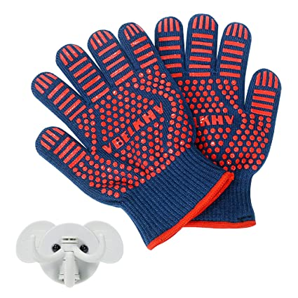 Amazon Vbelkhv Oven Mitts Gloves Silicone Bbq Heat Resistant