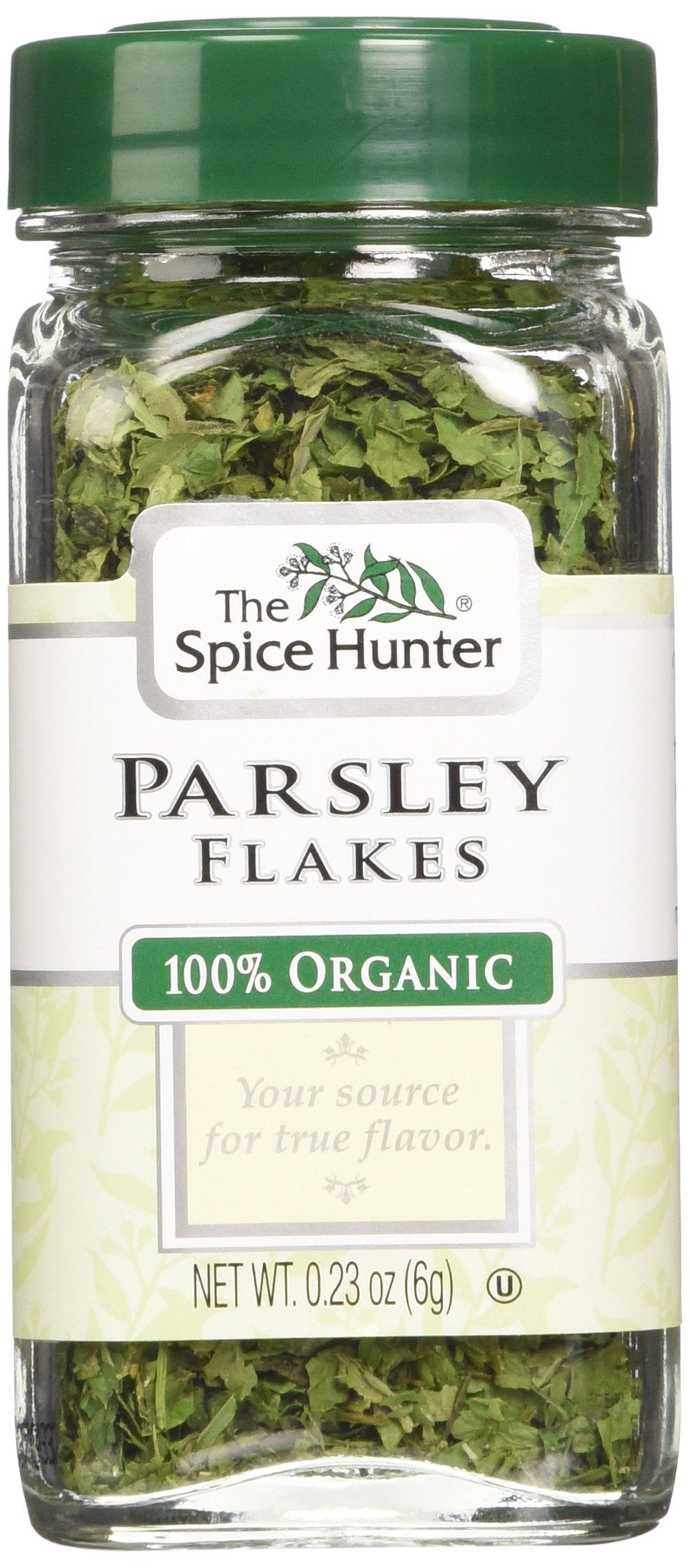 The Spice Hunter Parsley Flakes, Organic, 0.23-Ounce Jars (Pack of 6)