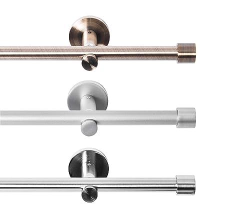 Fabulous Rollmayer Metall Gardinenstange Ø 16mm Rohr, Chrom Matt für GP88