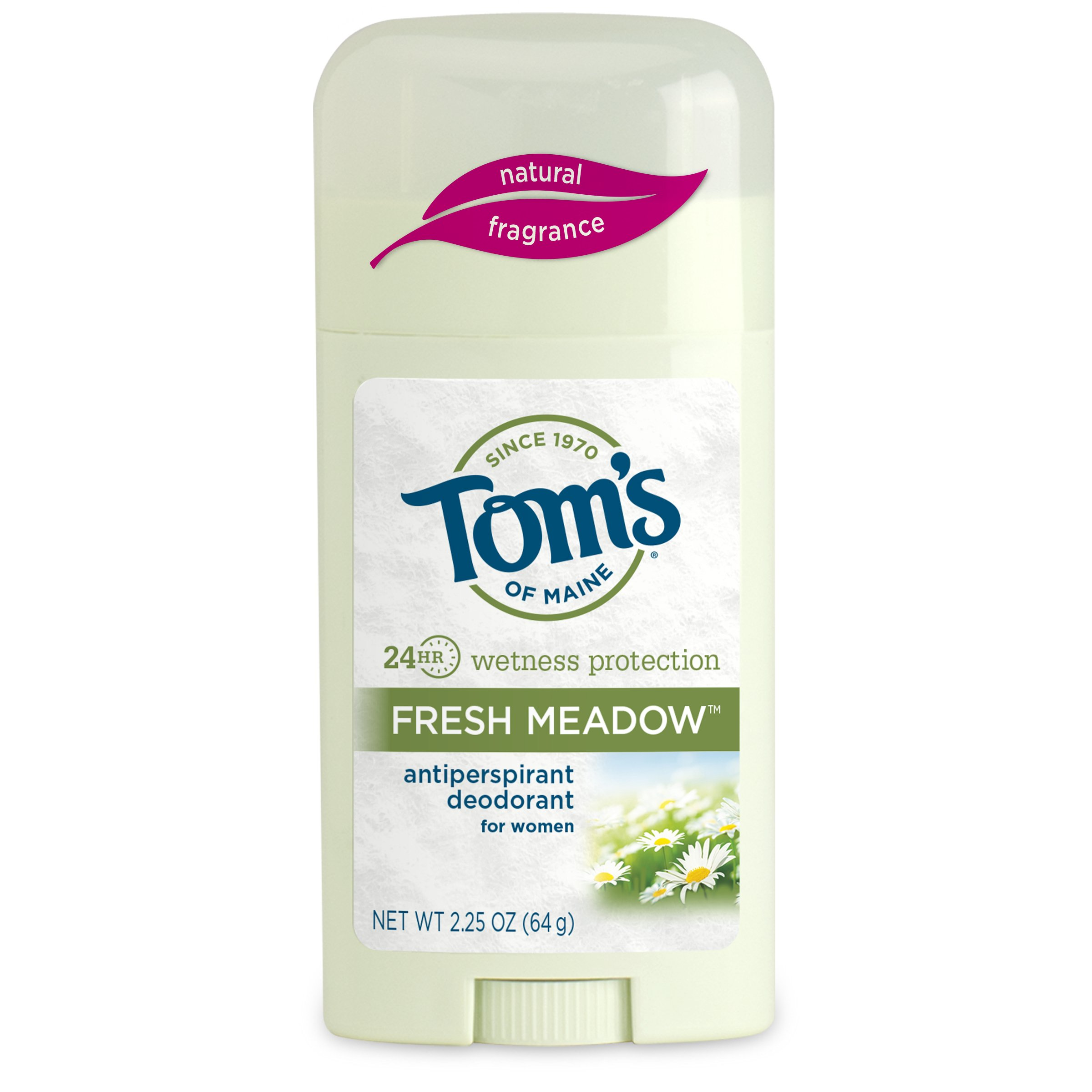 Tom's of Maine 683411 Women's Antiperspirant Stick, Fresh Meadow, 2.25 Ounce, 18 Count