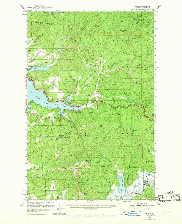 Amazon.com: YellowMaps Lane ID topo map, 1:62500 Scale, 15 X 15 ...