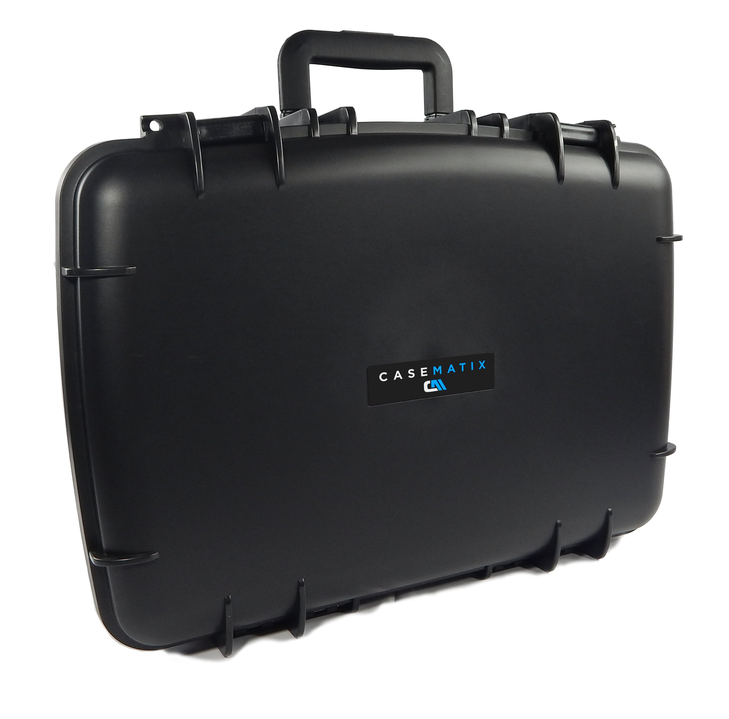 CASEMATIX ArmorXL Travel Carrying Case (22'') for DJ Controller or Mixer and Accessories - Fits Gemini SLATE 2-Channel Serato Dj Intro Controller / CDJ-700 / CDJ-650 / CDJ-300