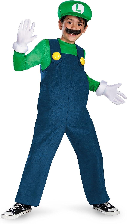 Boys Deluxe Luigi Costume Small