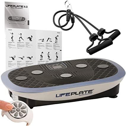 Vibrationsplatte Lifeplate 4.0 3 in 1 Vibrationsboard: 3D, Oszillation & Kombi inkl. Trainingshandbuch + Trainingszubehör