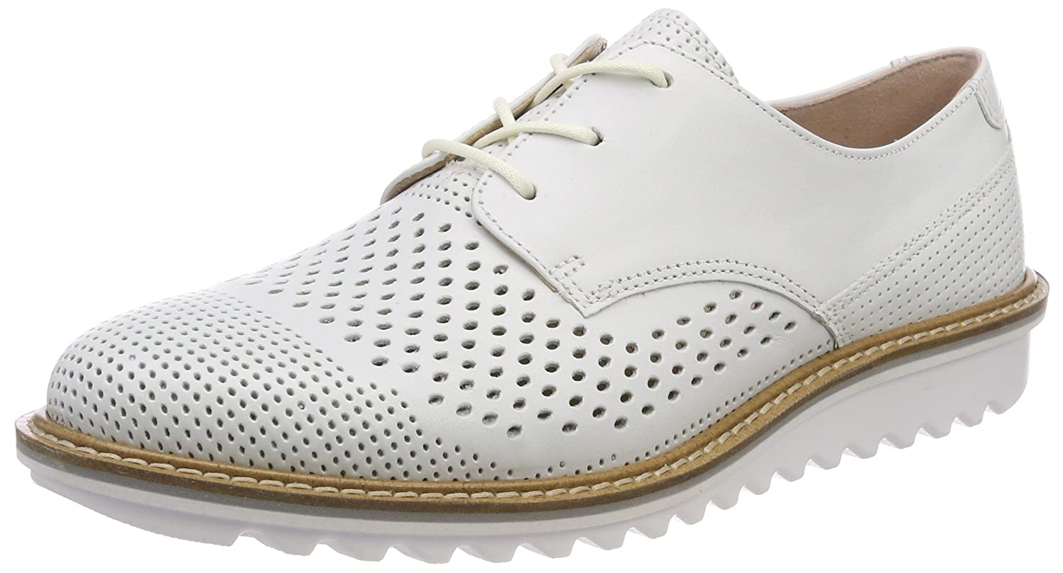 Ecco Touch, Zapatos de Cordones Brogue para Mujer 39 EU|Blanco (Bright White)
