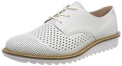 Ecco Touch, Zapatos de Cordones Brogue para Mujer, Plateado (Moon Rock), 36 EU